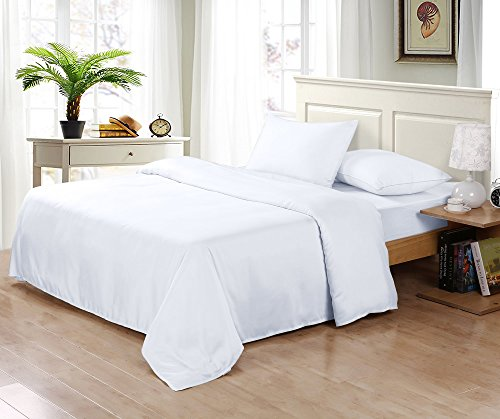 SLEEP GARDEN Bamboo Sheets | 320-Thread-Count | 4 Piece California King Sheet Set | 100% Bamboo | Hotel Quality | Super Soft | Eco-friendly | GMO Free | Hypoallergenic (White)