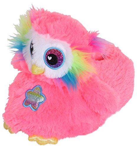 femme Pink animal fantaisie Owl Neon peluche en Chaussons fille q8zwtpIpx