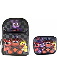Five Nights at Freddys Large Backpack 16 Boys School Book Bag Plus Lunch Bag
