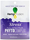 HempFusion Phytocomplex Stress (Box of 12 Travel Size Pouches, 2 Capsules Each), Whole Food Hemp Complex, 24 Vegetarian Liquid Capsules Total