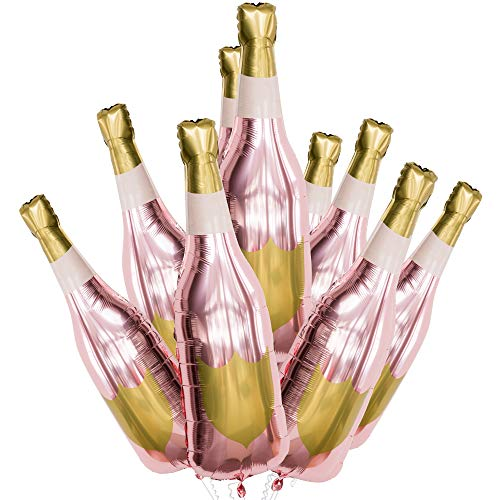 Bachelorette Party Decorations Champagne Balloon - 41 Mylar Party Decoration with Rose Gold Color - Customizable Design, Can Be Inflated with Helium or Air - Bridal Shower Decorations (3)