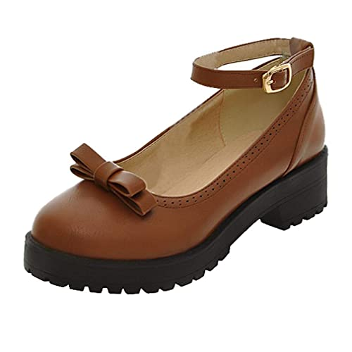 Mujer Coolulu Al Zapato Tobillo De Tira Tacón Bajo OP0Xkw8n