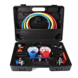 AC Refrigeration Kit A/C Manifold Gauge Set for Air R12 R22 R134a 410a R404z By TINGAO