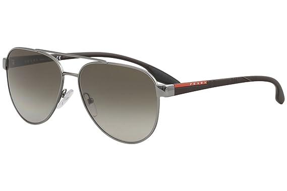 Amazon.com: Prada PS54TS - Gafas de sol 5AV1X1-58 - Marco de ...