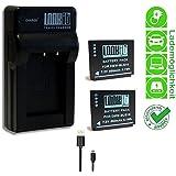 2x LOOKit Premiumakku BLG10 + LOOKit Ladegerät (handy standard) für Panasonic DMC TZ101 TZ91 TZ81 GF6 GX7 GX80 LX100 - 100% dekodiert - mit Infochip