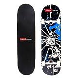 MAGIC UNION 31 Inch Maple Deck Skateboard Longboard Double-Kick Cruiser