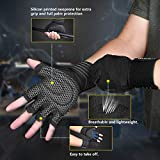 Updated 2019 Version Professional Ventilated Weight Lifting Gym Workout Gloves with Wrist Wrap Support for Men & Women, Full Palm Protection, for Weightlifting, Training, Fitness, Hanging, Pull ups
