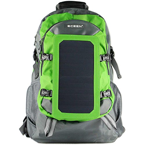 ECEEN® Solar Bag, Solar Charger Backpack With 7 Watts Solar Panel for Mobile Phones, Tablets