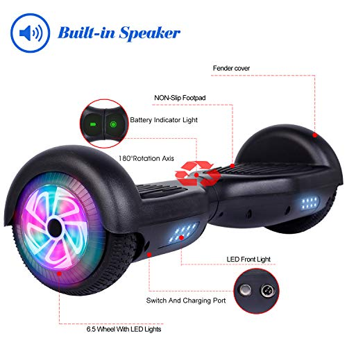 LIEAGLE Hoverboard, 6.5 Self Balancing Scooter Hover Board with UL2272 Certified Wheels LED Lights for Kids Adults