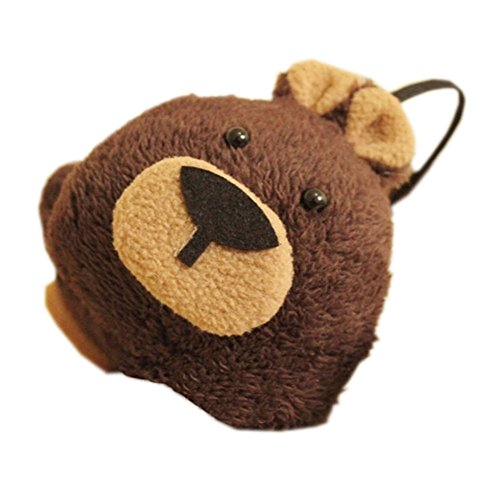 Brown Bears Earmuffs Fur Lovely Ear Warmer Winter Ear Protector