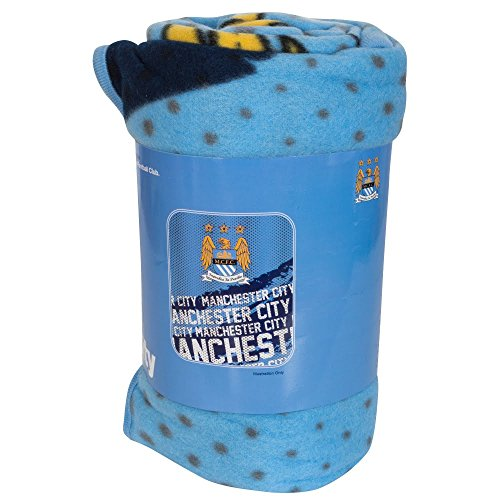 Official Football Team EPL Gift Manchester City F.C. Fleece Blanket IP