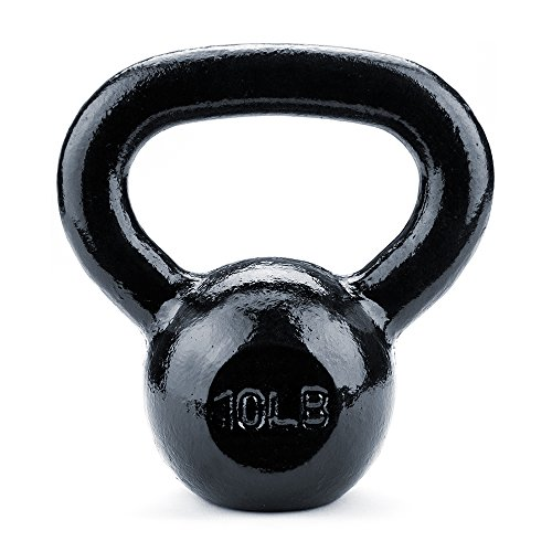 Crown Sporting Goods Black Cast Iron Kettlebell Weights (10lbs)