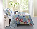 pottery barn quilt  GL-1410GMSK 3-Piece Kendall Quilt Set, King, Multi