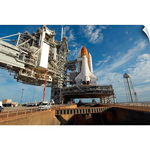 A View Space Shuttle Atlantis on Launch Pad 39A at The Kennedy Space Center Wall Peel Art ()