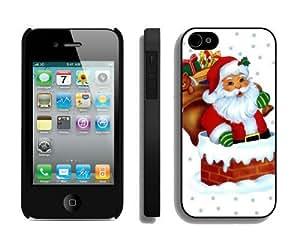 linJUN FENGBest Buy Design Santa Claus iPhone 4 4S Case 36 Black
