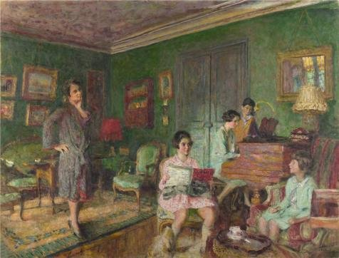 'Edouard Vuillard - Madame Andre Wormser And Her Children,1926-7' Oil Painting, 30x39 Inch / 76x100 Cm ,printed On High Quality Polyster Canvas ,this Reproductions Art Decorative Prints On Canvas Is (Halloween Costumes Marshall Texas)