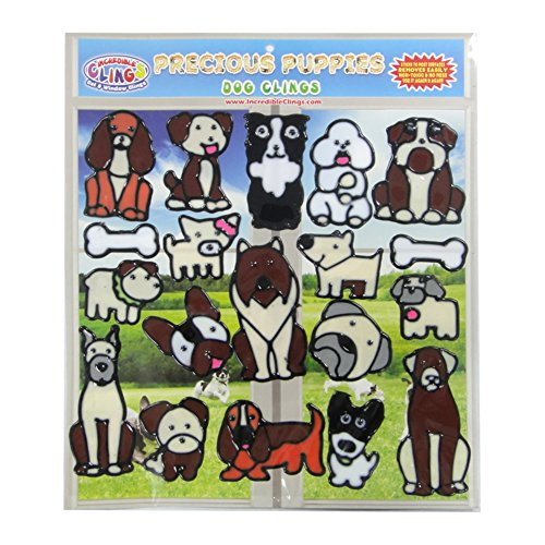 Planes Decal Great Set (Dog and Puppies Flexible Gel Clings –Removable and Reusable Window Clings for Kids and Adults – Great Gel Decals for Home, Cars, Plane Travel and More)