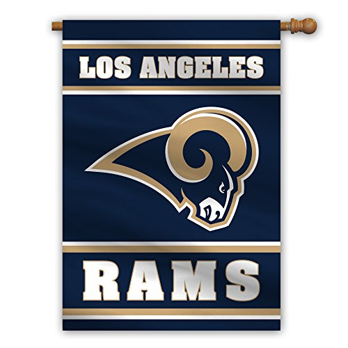 Rams Flag - Fremont Die NFL Los Angeles Rams 2-Sided House Banner, 28