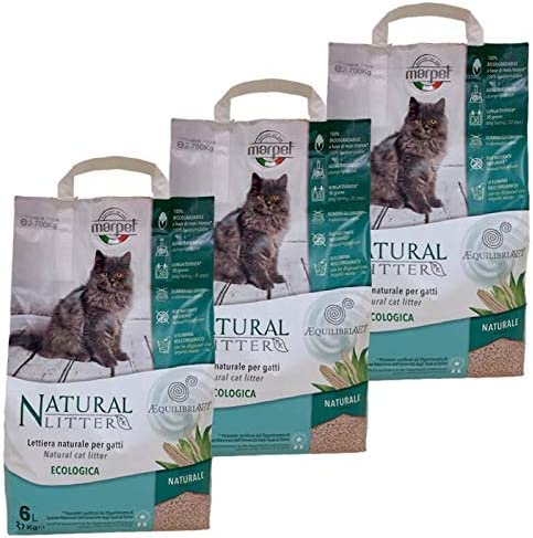 LordsWorld - Marpet - 3 Bolsas de Arena para Gatos Natural 100 ...