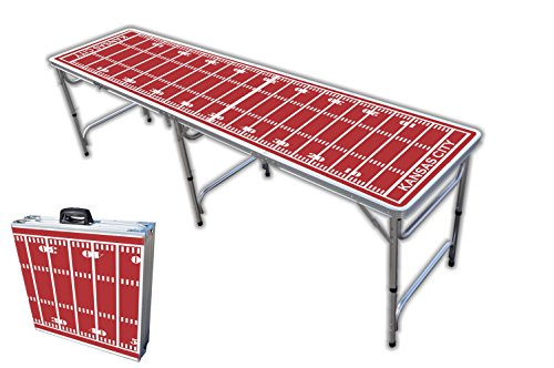 8-Foot Professional Beer Pong Table - Kansas City Football Field Graphic -