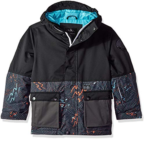 Billabong Big Fifty 50 Boys Insulated Snow Jacket, Black, M