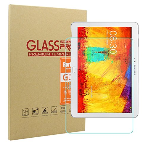 Galaxy Note 10.1 2014 Screen Protector, Rerii Tempered Glass, Screen Protector for Samsung Galaxy Note 10.1 2014 Edition, High Definition, Real Glass Screen Protector