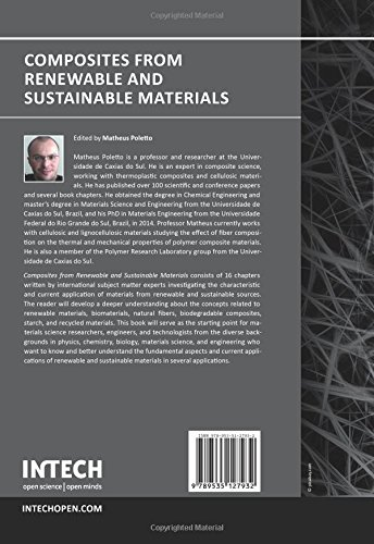 Composites from Renewable and Sustainable Materials