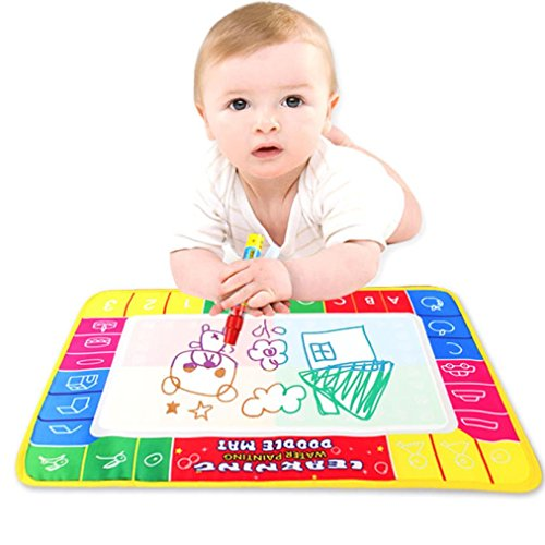 Coerni Educational Toy - Magic Pen + Reusable Water Painting Writing Mat Board 11.4 7.5 Inch by
