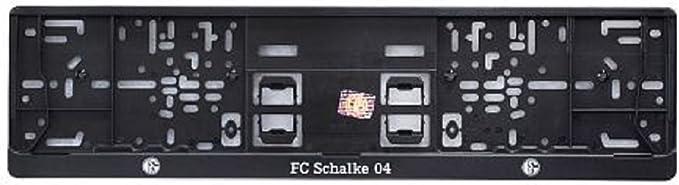 Fc Schalke 04 Nummernschildhalterung One Size Schwarz Auto