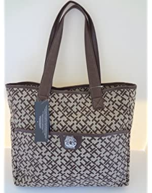 Women's NS Tote, Large, Chocolate Alpaca