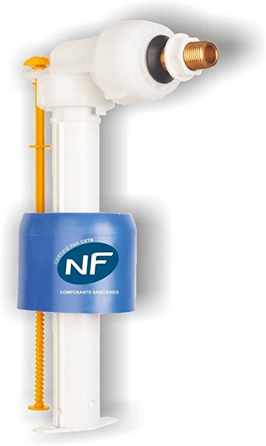 Regiplast 0500 Robinet Flotteur Compact Hydraulique à Alimentation Latérale Blanc