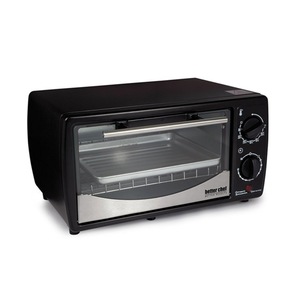 Better Chef 9 Liter Toaster Oven Broiler- Black With Stainless Steel Front by Better Chef