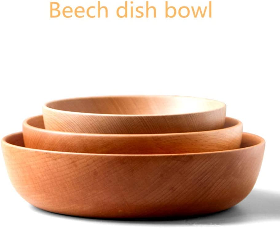 s Beech Japanese Salad Bowl Household Wood Bowl Solid Wood Fruit Vegetable Bowl