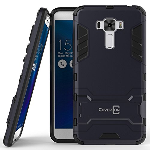 Zenfone 3 Laser Case, CoverON [Shadow Armor Series] Hard Slim Hybrid Kickstand Phone Cover Case for Asus Zenfone 3 Laser ZC551KL - Navy Gray / Black
