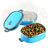 Insulation Thermal Lunch Box Stainless Steel Food Storage Container Portable Bento Box with Handle 2 Layers