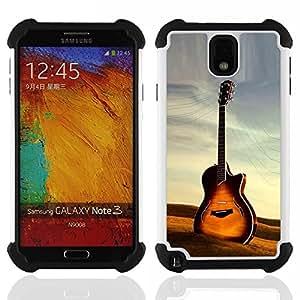 GIFT CHOICE / Defensor Cubierta de protección completa Flexible TPU Silicona + Duro PC Estuche protector Cáscara Funda Caso / Combo Case for Samsung Galaxy Note 3 III N9000 N9002 N9005 // Guitar //