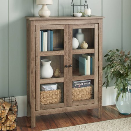 10-Spring-Street-Farmhouse-Library-Cabinet-Wood-Grain-Texture-Tempered-Glass-Doors