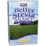 Now Foods, Stevia Balance with Inulin & Chromium 100 Packets