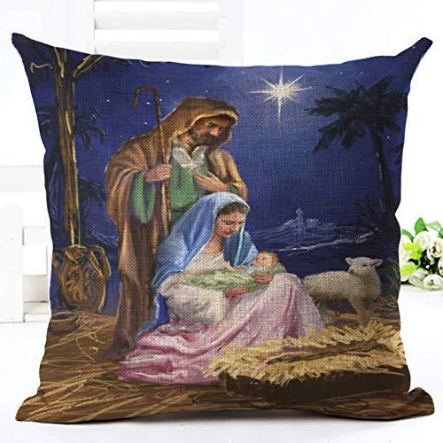 Amazon.com: Wall of Dragon Cotton Linen Merry Christmas ...