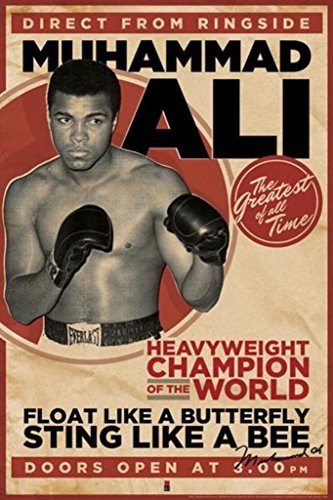 Pyramid America Muhammad Ali Vintage Style Boxing Sports Poster 24x36 inch
