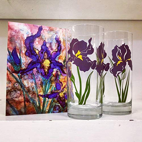 Purple Iris Gift Set Collection - Mother's Day, Birthday Gift for her, Housewarming Gift, Hostess