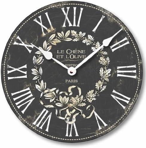 Fairy Freckles Studios Item C2041 Vintage Style French Bistro Clock 10.5 Inch Diameter