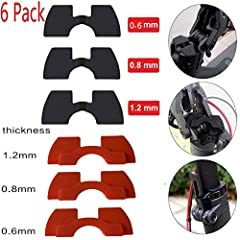Vibration Damper Rubber for Xiaomi M365 M187 6 Pack Electric Scooter Part Accessories Damping Rubber Dampeners Parts Folding Hooks Rod Lightweight BufferFeature:- 100% NEW Brand - Our items are not made from plastic and high quality rubber ma...