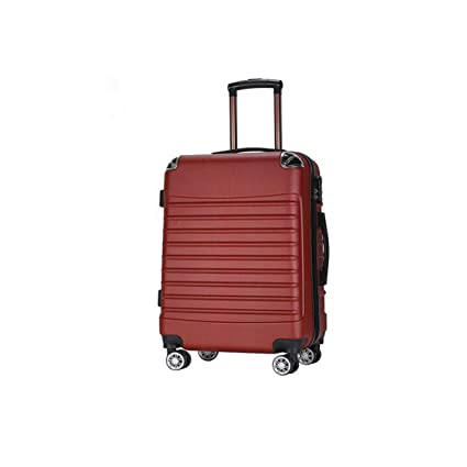 Keintong Suitcase for Casual Fashion Durable Lightweight Hard Shell Suitcase cm Size Color : Red, Size : 172412inch 34 24 39 Color Black