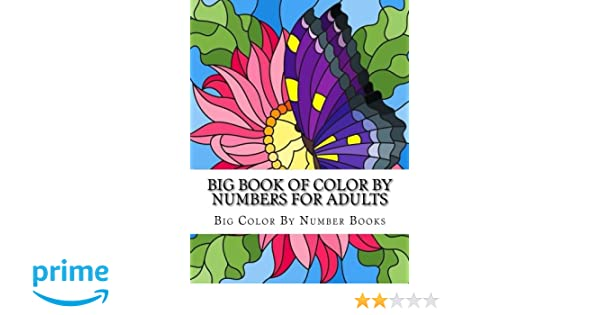 Large Print Adult Coloring Book Color By Number Springtime Designs