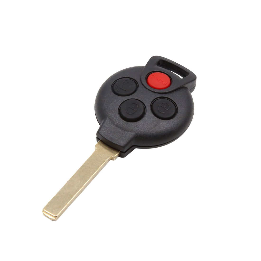 uxcell 4 Buttons 315Hz Uncut Key Fob Car Remote Control Keyless for Smart KR55WK45144