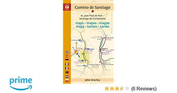 Camino de Santiago Maps: St. Jean Pied de Port - Santiago de ... on