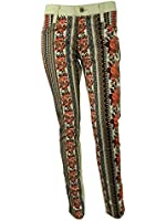 James Jeans Womens Coral Tapestry Twiggy Flip Side Skinny Jeans