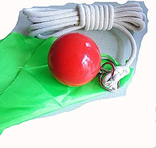 suzakoo Martial Art Fitness Equipment Tool Practice Instrument Rubber Meteor Hammer with Rope Soft