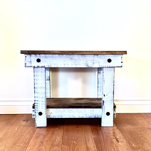 Rustic Handcrafted Reclaimed End Table